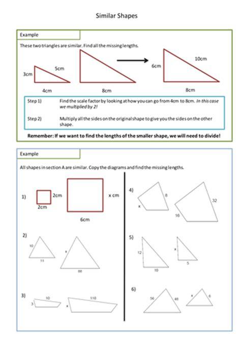 similar shapes worksheet scale factors  adz