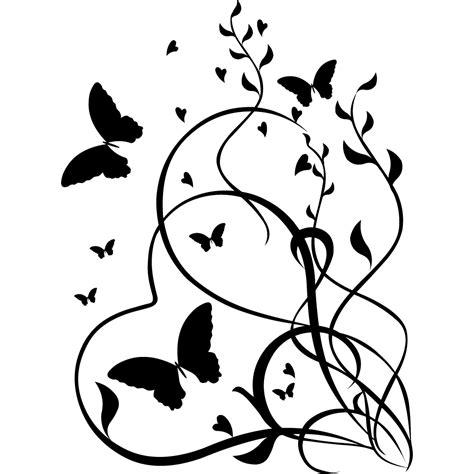 deco cuisine violet stickers coeur papillon pas cher