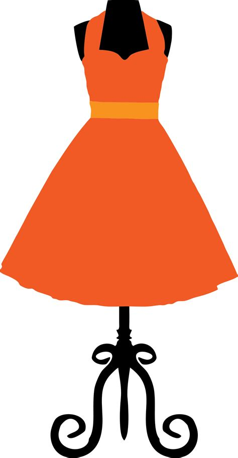 Dress Clip Dress Clipart Vintage Dress Pencil And In Color Dress