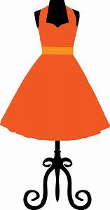 Dress clipart vintage dress - Pencil and in color dress ...