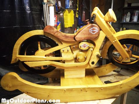 diy wood harley rocker myoutdoorplans  woodworking