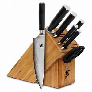 Shun, Classic, Knife, Block, Set, 8, Piece