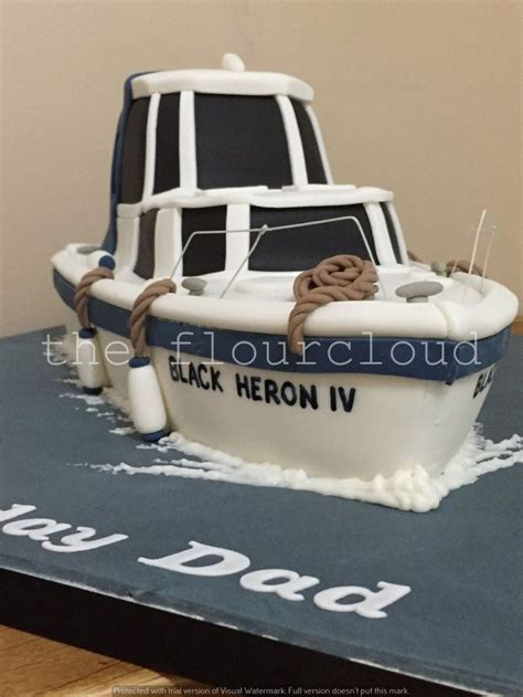 Speed Boat Birthday Cake by Best 25 Boat Cake Ideas On Pirate Boat Cake