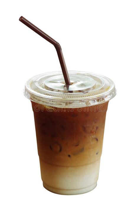 Making iced coffee could can seem like a difficult project but it is quite easy and worth the effort. Iced Coffee Latte In Plastic Cup Isolated On White Background, C Stock Photo - Image of latte ...