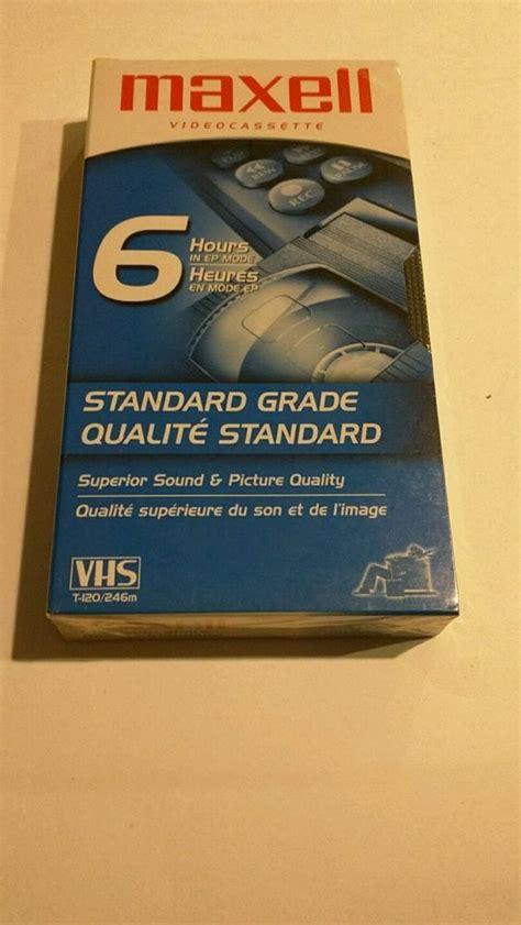 maxell vhs video cassette standard grade  hour