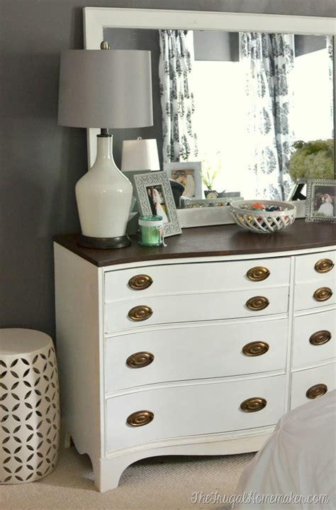 painted dresser  mirror makeover master bedroom furniture