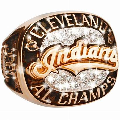 Championship Indians Ring Cleveland American 1995 League