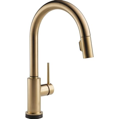 kitchen faucets delta faucet 9159t ar dst trinsic arctic stainless pullout
