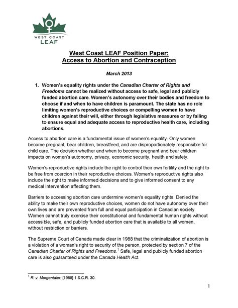 position statement access  abortion contraception