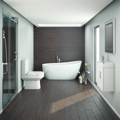 Miami Modern Slipper Bathroom Suite  Available At