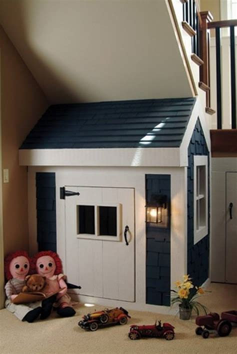 kids indoor playhouse  stairs home design garden