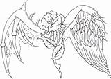 Wings Drawing Heart Coloring Cross Crosses Jesus Drawings Pages Cool Tattoo Rose Angel Hearts Sketches Adult Getdrawings Draw Flower Drawn sketch template