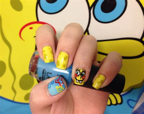 spongebob nails on Tumblr