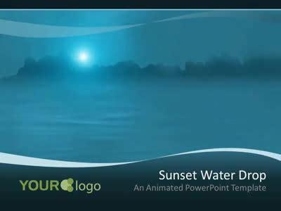 water drop  powerpoint template  presentermediacom