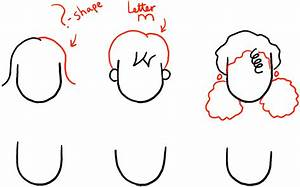 How to Draw Girls Hair Styles for Cartoon Characters ...