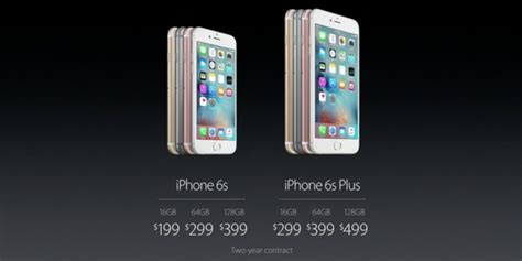 apple iphone 6s 6s plus prices releases business insider