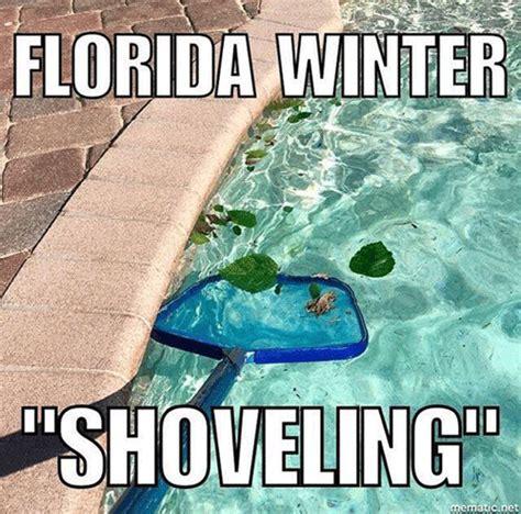 Florida Winter Meme - winter shoveling in florida