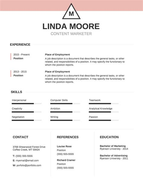Resume Templates by Infographic Resume Template Venngage
