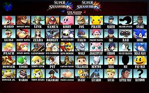 Super Smash Bros Wii U3ds Roster Brawl Style By