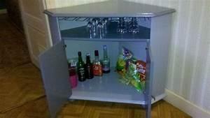 Meuble Bar Angle : meuble t l d tourn en bar et relook libellule rose ~ Melissatoandfro.com Idées de Décoration