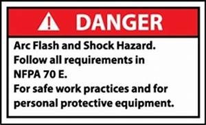 danger signs arc flash shock hazard small 5 pack With arc flash and shock hazard