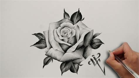 diseno tatuaje rosa realista realistic rose tattoo design nosfe ink tattoo youtube
