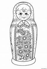 Coloring Russian Dolls Colouring Adults Doll Printable Adult Russia Matryoshka Coloriage Babushka Russe Dessin Justcolor Theme 2d Sheets Colorier Awesome sketch template