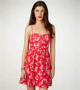 American Eagle Floral Corset Dress