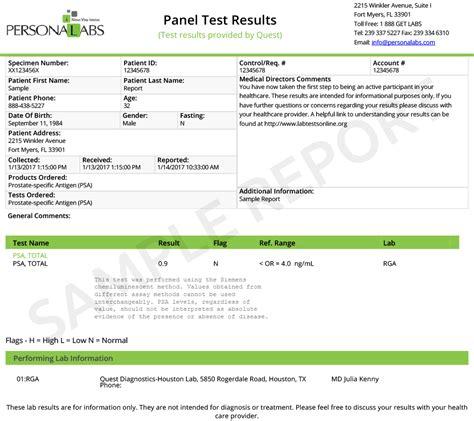 specific antigen test range cancer test specific antigen test