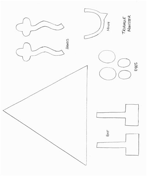Triangle Template For Kid Craft shape monster crafts all kids network