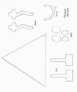 Monster craft template shapes crafts print your for Mosnter template