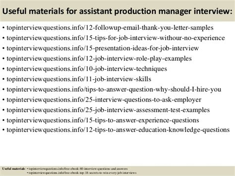 Questions For Production Manager And Answers by Top 10 Assistant Production Manager Questions