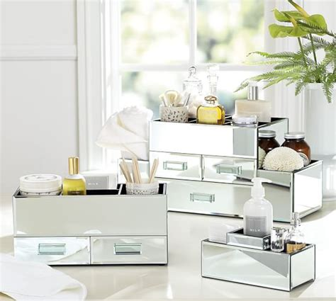 Mirrored Bathroom Storage by Mirrored Makeup Storage Pottery Barn