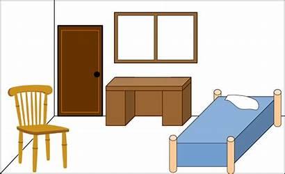 Clipart Empty Bedroom Clip Living Clean Bed