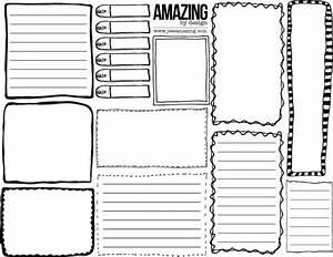 Free Printable - Hand Drawn Boxes And Journaling Spots