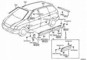 2002 Toyota Sienna Front Bumper Diagram