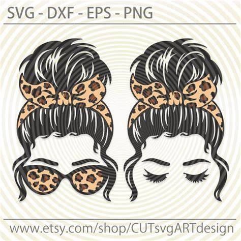 Free svg, afrosvg.com, free african american svg files, free afro svg, free peek a boo svg, free (free svg file visible for registered users only. Messy Bun bandana glasses Leopard print svg Beautiful girl ...