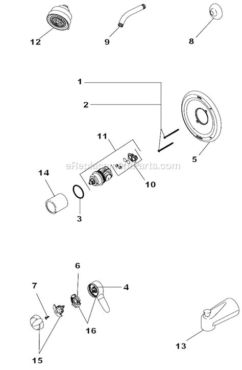 delta faucet t17085 parts list and diagram