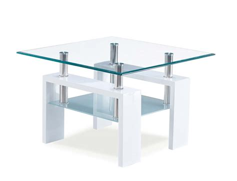 frosted glass end table global furniture usa 648 end table frosted glass white