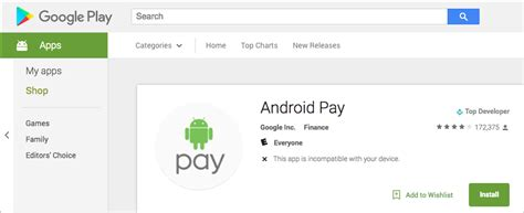 android pay stores android pay showing up on devices still not functional in