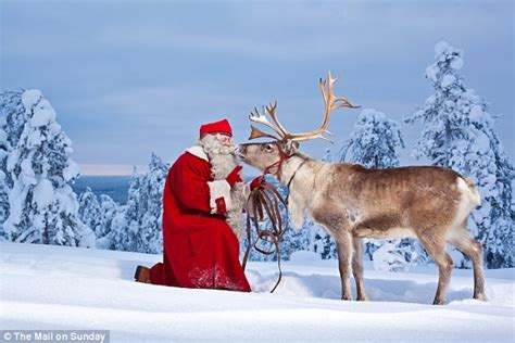 Santa Claus In Snowy Weather By Clairev Reindeer Huskies And Santa Claus All In Just One Day