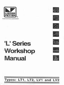 Lister Petter L Series Workshop Manual Lt1