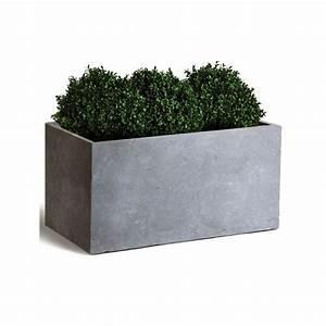 Bac à Fleurs : bac fleurs fibre de terre clayfibre l80 h40 cm gris plantes et jardins ~ Teatrodelosmanantiales.com Idées de Décoration