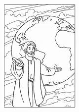Coloring Pages Bible Sunday Colouring Printable Commission Sheets Meteor Disciples Children Activities Paul Crafts Preschool Toddler Lessons Church Worksheet Christian sketch template