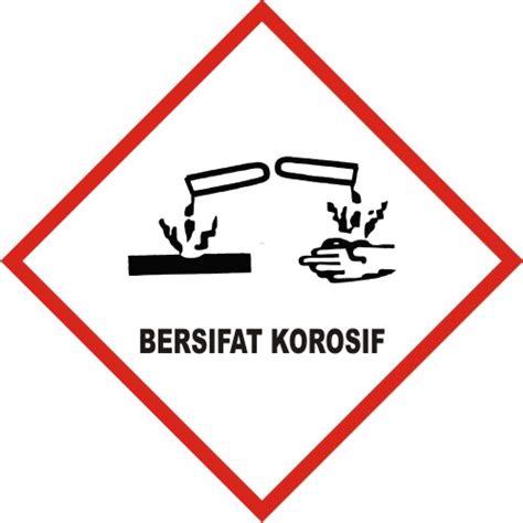 contoh sticker sabloon  simbol peringatan bahan kimia