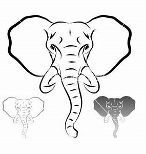 Stylized elephant head vector 1679715 - by marius_m on ...