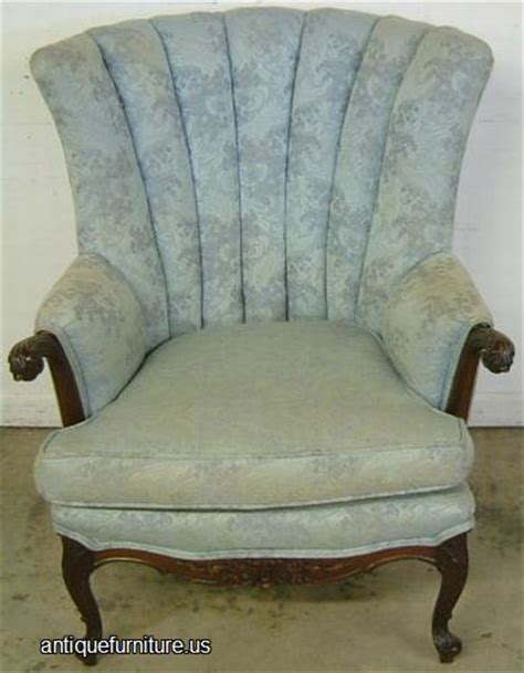 Antique Mahogany French Style Wingback Chair At Antique