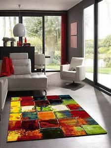 Tapis Salon Design : tapis belo 2 multicolore de la collection unamourdetapis ~ Teatrodelosmanantiales.com Idées de Décoration