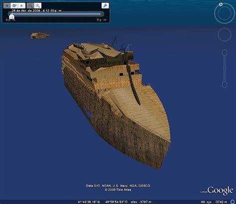 Imagenes Barco Titanic Hundido by Hundimiento Del Titanic En Google Earth En Google Maps