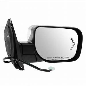 Mirror Power Heated Memory Turn Puddle Light Chrome Right